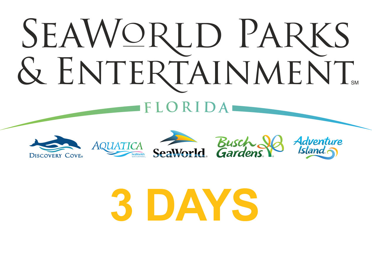 SeaWorld Multi Parks Adventure 3(three) days Ticket