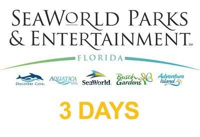 SeaWorld Multi Parks Adventure 3(three) days Ticket