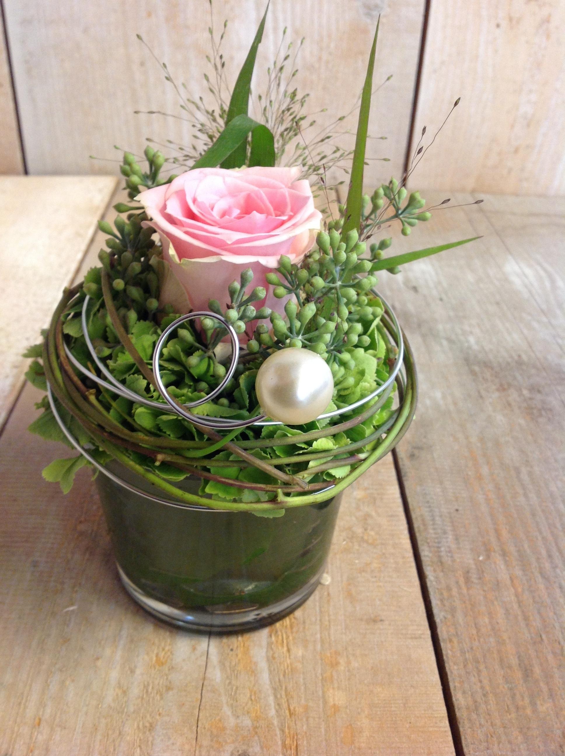 Blumen Gruss Rosa Im Glas