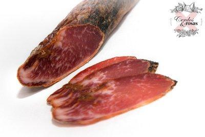 Cerdos y Rosas: Lomo Ibérico de Bellota. Peso aproximado 1,250kg