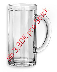 0,25l Bierkrug/Bierseidel - 6 Stück für
