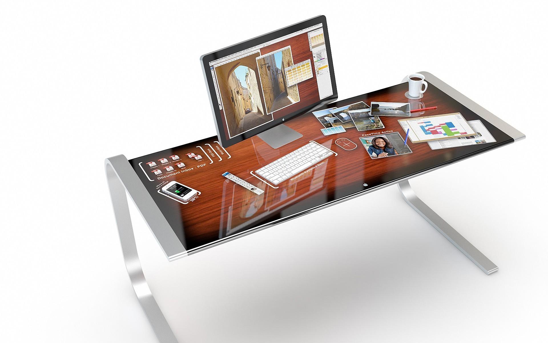 Компьютерный стол с apple скачать