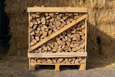 Large Crate Kiln Dried Silver Birch Logs