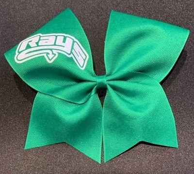 Big Green Bow with White Rays