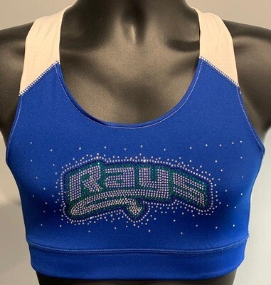 Rays Rhinestone Blue Sports Bra