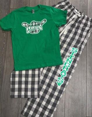 Pajama Pants: Stingrays Buffalo Print