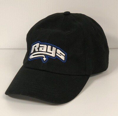 Rays Black Baseball Hat