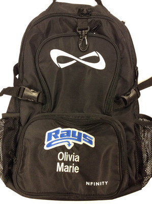 Black Backpack w/Rays Logo