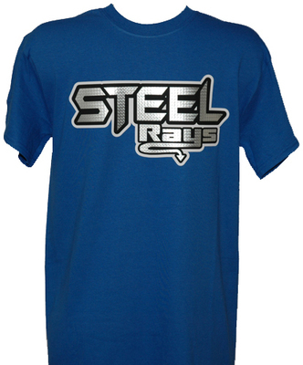 Steel Rays Large  Coed Blue T-shirt