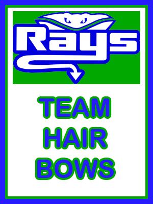 Orange Team Hair Bows