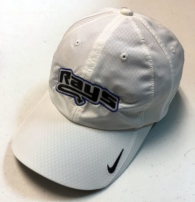 Rays White Nike Baseball Hat