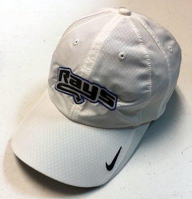 Rays White Nike Baseball Hat