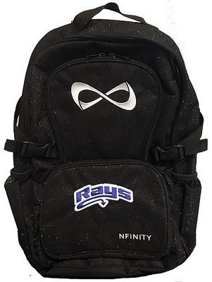 Rays Black Glitter Nfinity Backpack
