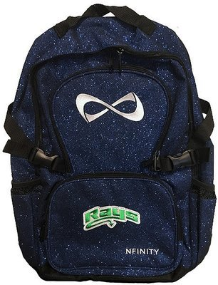 Blue Glitter Backpack w/Rays Logo