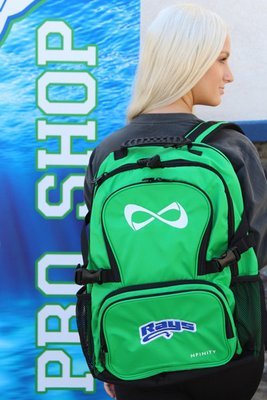 Green Backpack w/Rays Logo