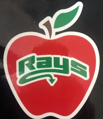 Apple Rays Decal