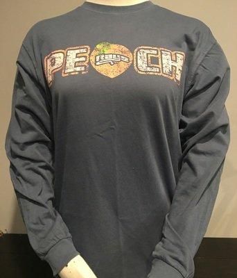 Peach Distressed LS T-shirt Unisex