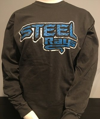 Steel Distressed LS T-shirt Unisex