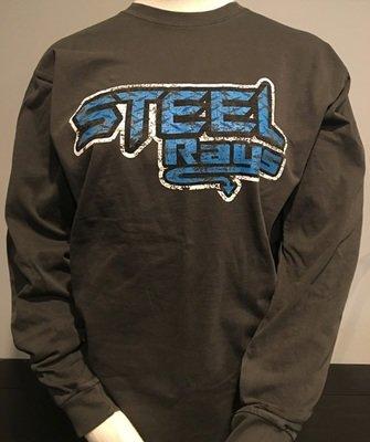 Steel Distressed LS T-shirt Unisex