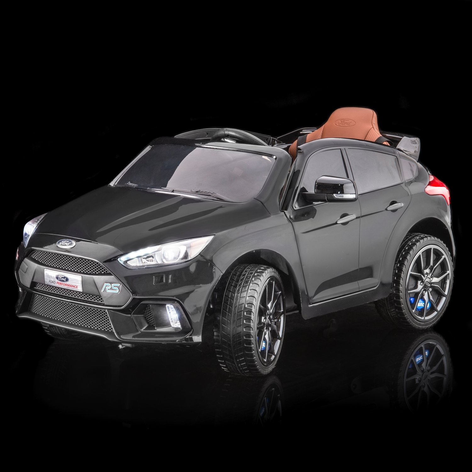 SUPERtrax® Licensed Ford® Focus RS Kids Ride On Car w/FREE MP3 Player,  Shadow Black - *SHIPPING INCLUDED*