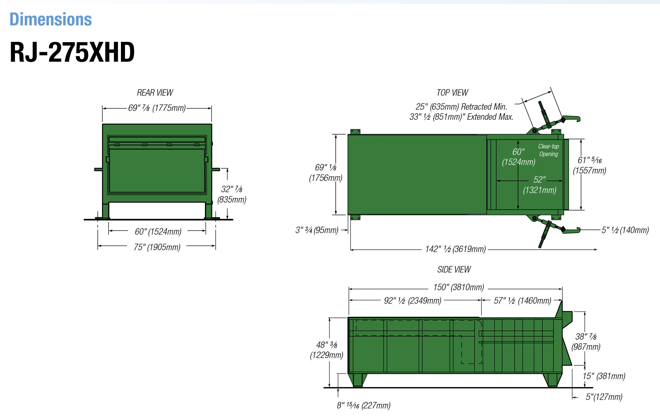 Rj 275 Stationary Compactor Joslyn Clark Wiring Diagrams