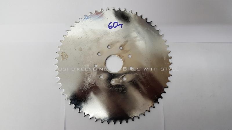 Wheel Sprocket 60T 60 Tooth 415 Rear Bicycle Engine Conversion 48cc 60cc 80cc