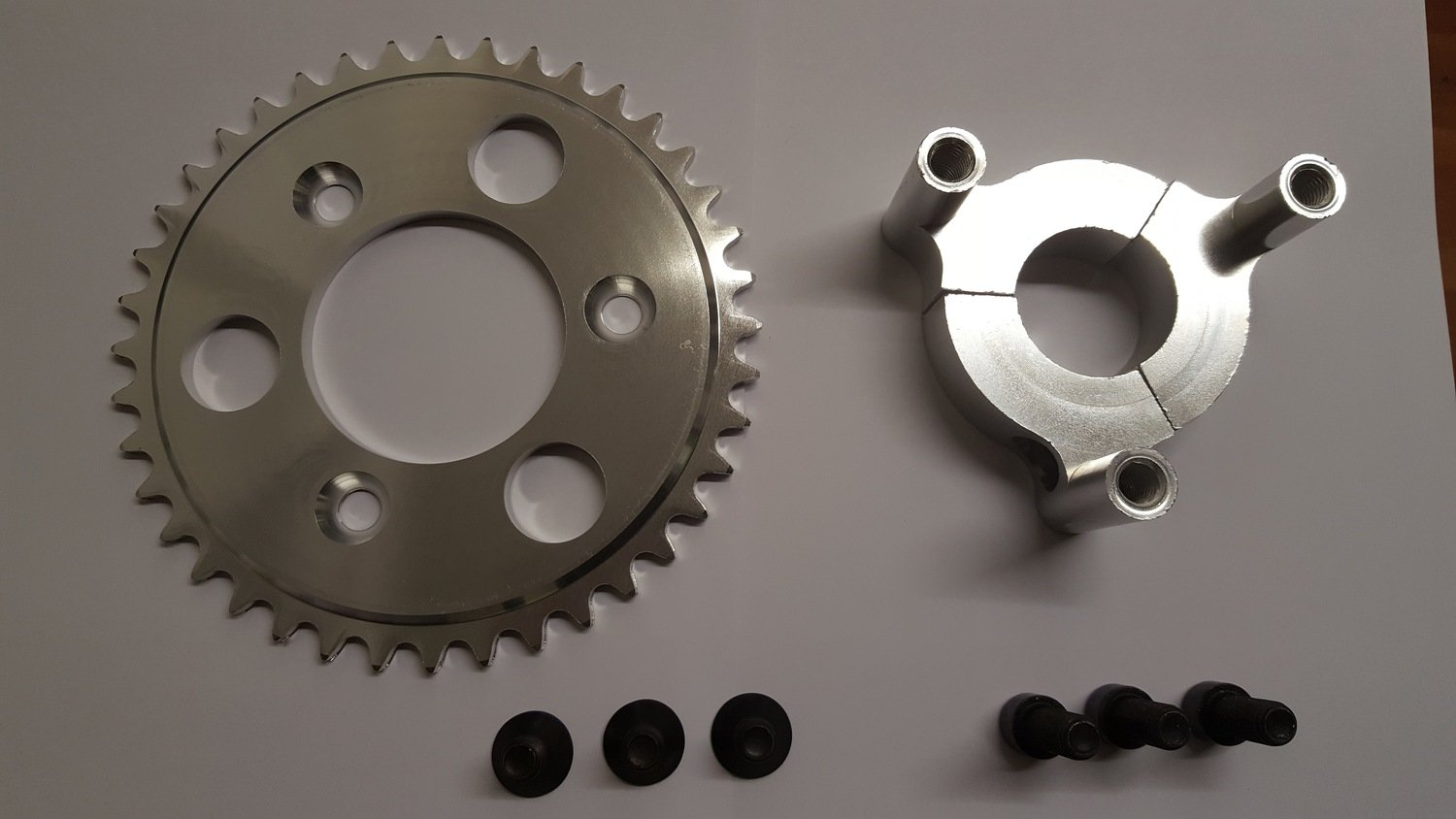 Rear sprocket & adapter 39mm for motorized bikes