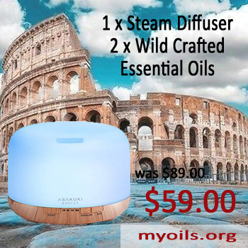 Steam Diffuser and Essential Oils