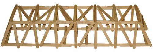 how to build a strong popsicle bridge