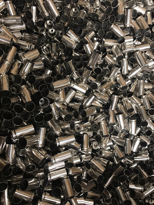 ONCE FIRED 9mm / Nickel plated (PROCESSED / LOAD READY) BRASS- 1000