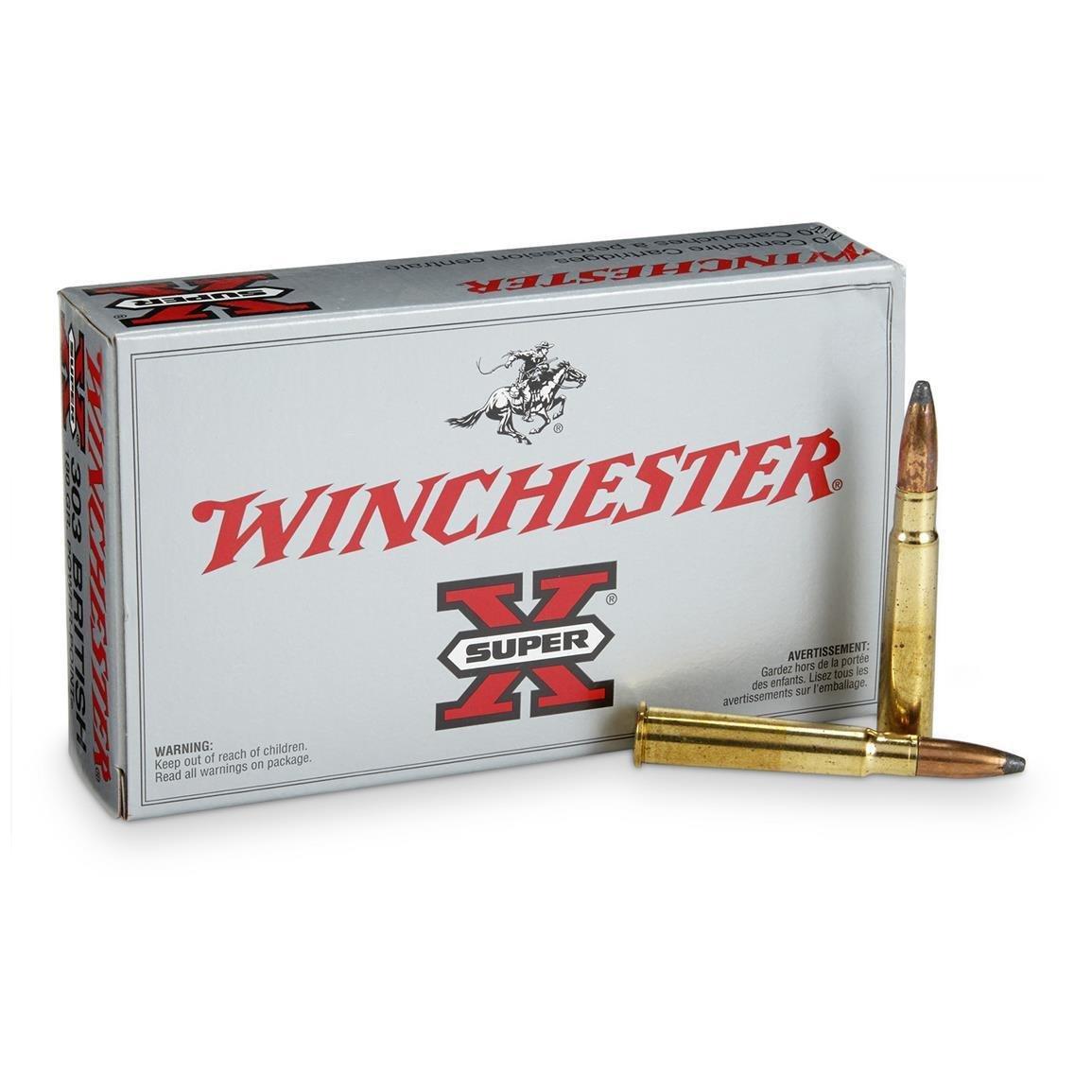 Winchester Super-X .303 British 180-Grain Power-Point Rifle Ammunition