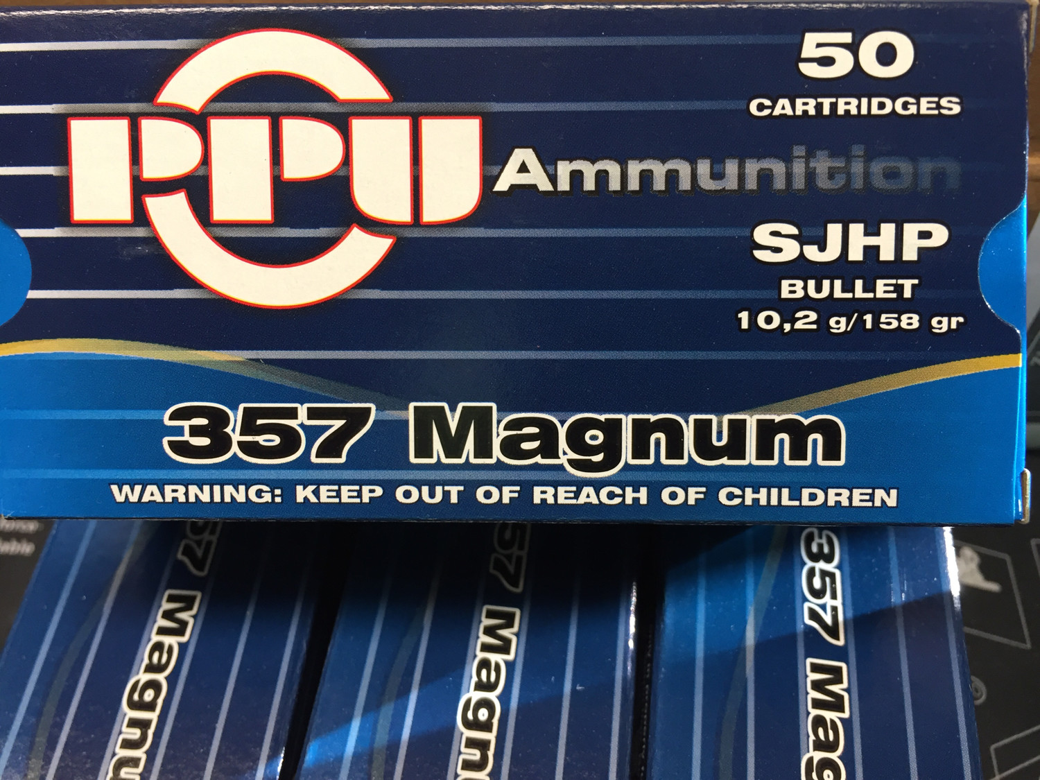 PPU .357 Magnum Semi Jacketed Hollow Points 158gr / 50 Rnds
