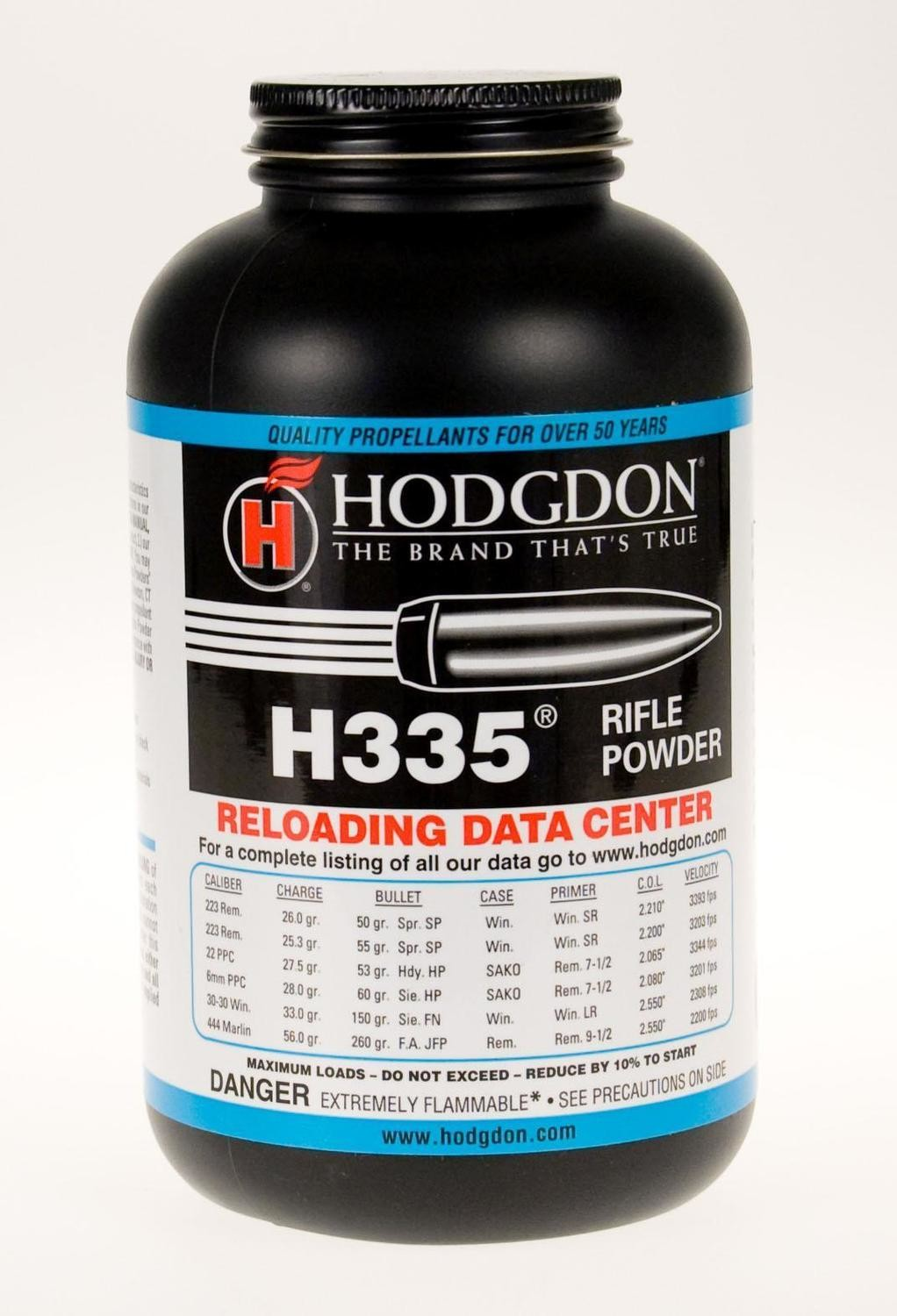 HODGDON H335 RIFLE BALL POWDER - 1LB