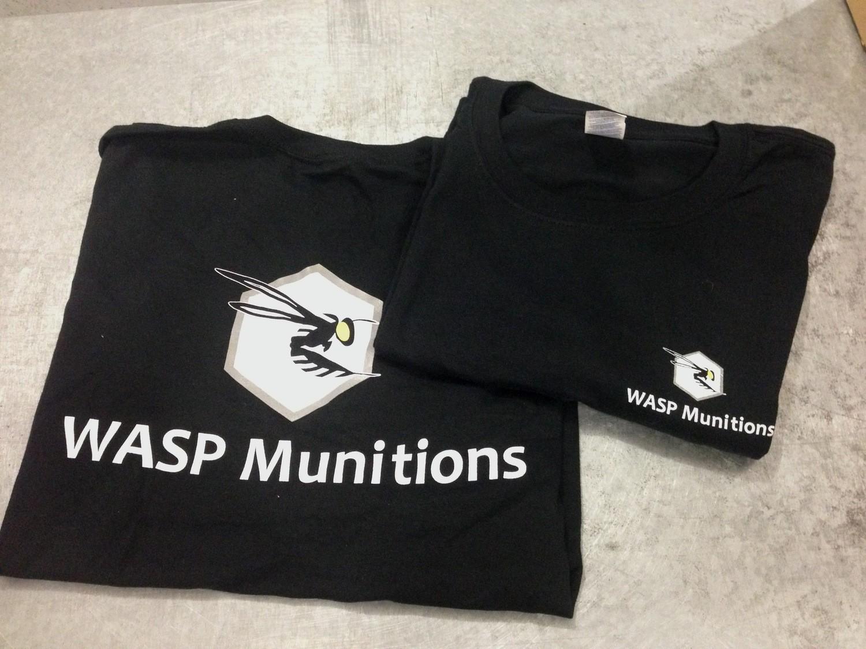 WASP Munitions BLACK COTTON T-SHIRTS Medium