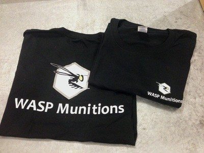 WASP Munitions BLACK COTTON T-SHIRTS Medium