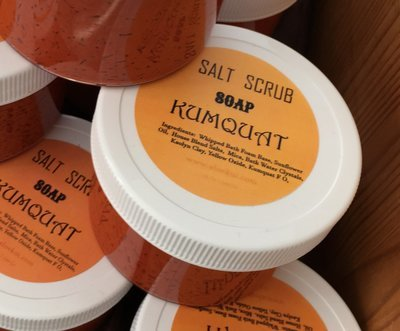 kumquat Whipped Salt Scrub Soap