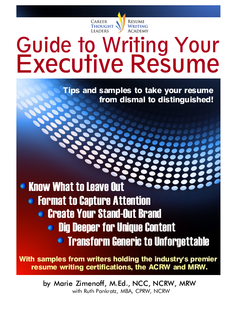 Ebook Ctl Rwa Guide To Writing Your Executive Resume