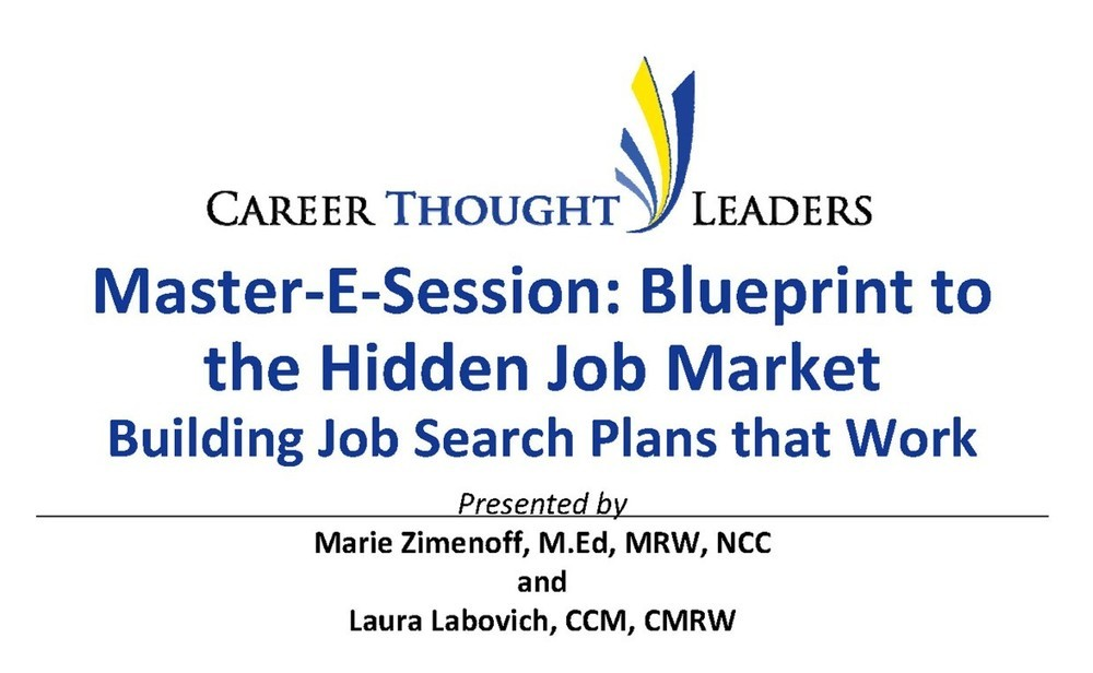 E session blueprint to the hidden job market building job search master e session blueprint to the hidden job market building job search plans that work malvernweather Images