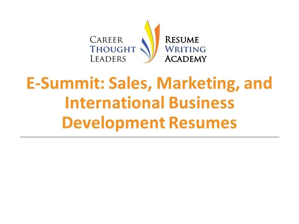 E Summit Sales Marketing International Business Development Resumes