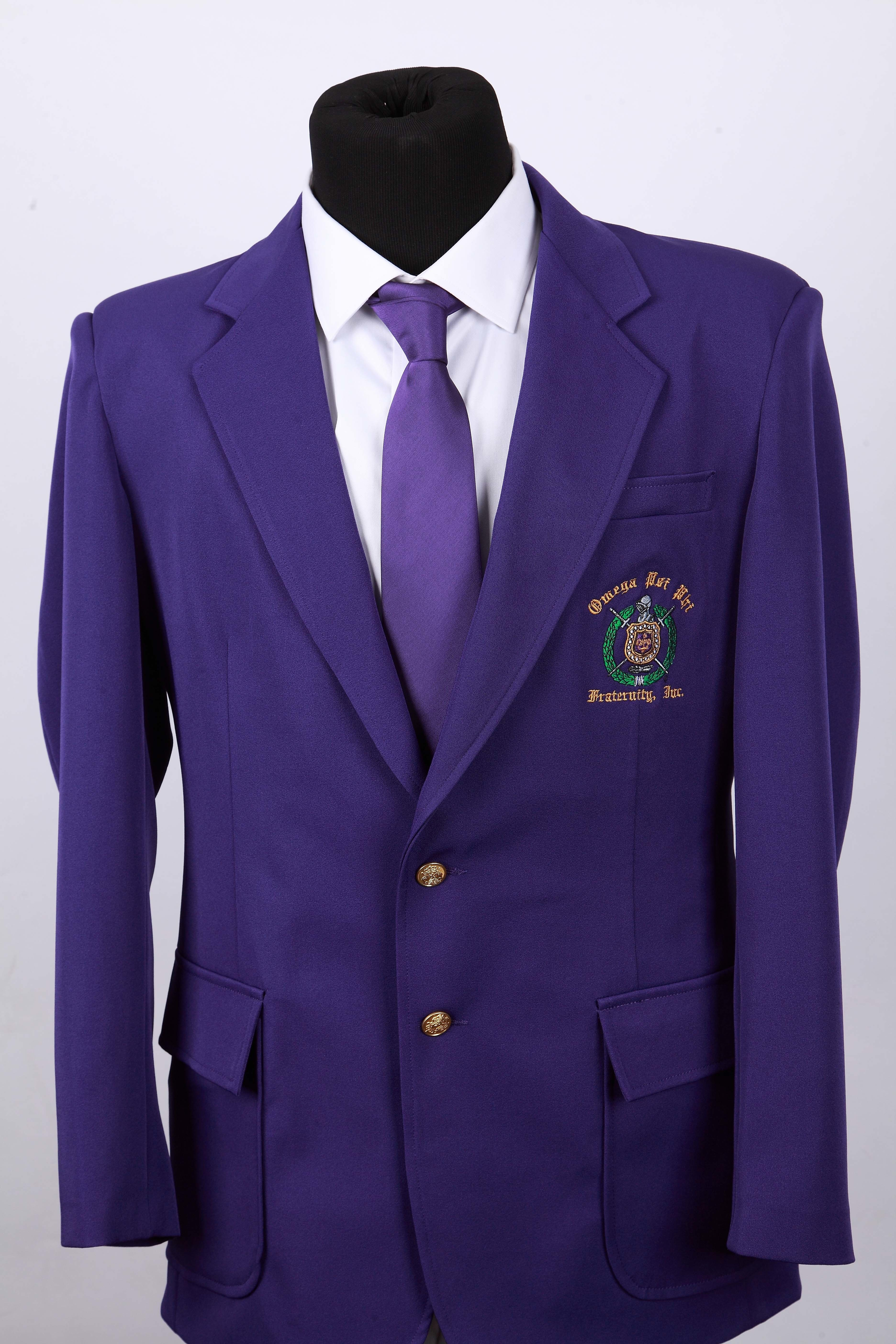 Purple Omega Blazer + Purple Necktie: 100% Poly (FREE Shipping) POBP001