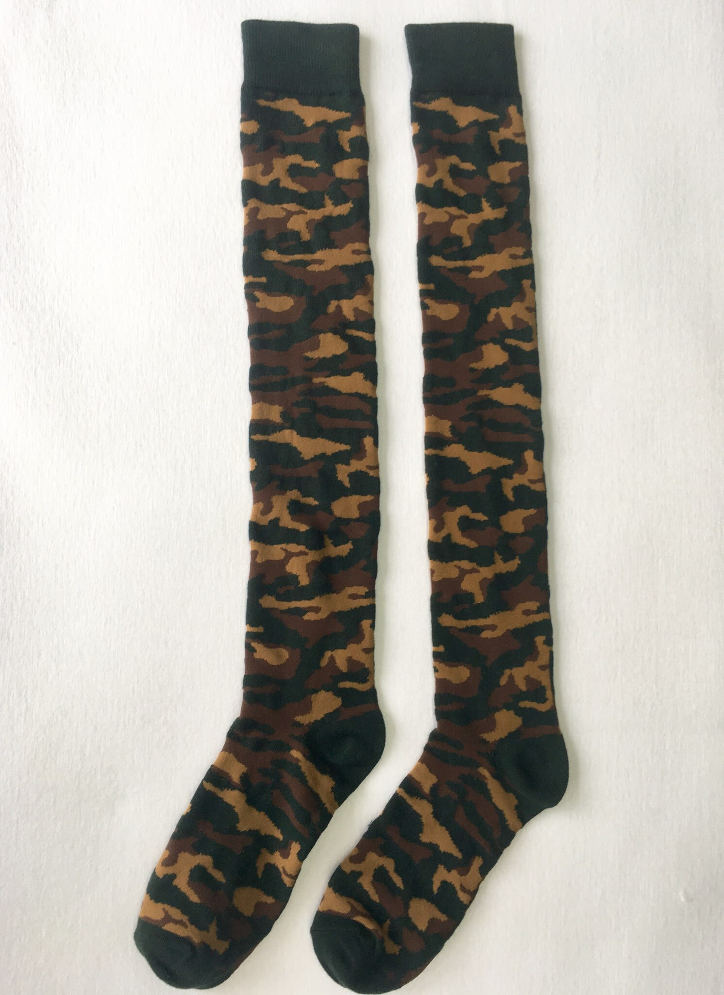 "Camouflage Knee High Socks - 20"" Inches High VERY LIMITED QUANTITY!!!! CamoKH001"