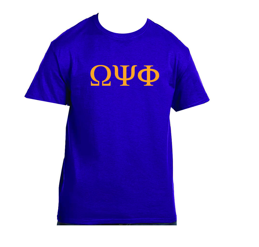 Omega Psi Phi - Purple w/Gold Greek Letters OPPPG001