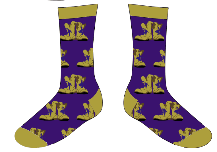 The Custom Gold Boots 1 Royal Purple & Old Gold (9-14 Foot) CGB001
