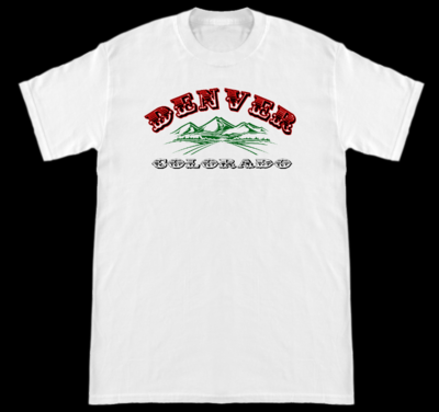 Denver, Colorado White Shirt