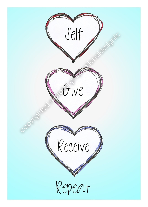 Self Love, Give Love, Receive Love, Repeat
