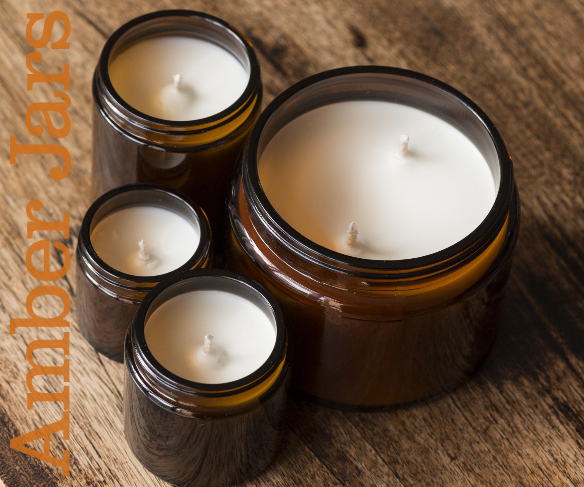 120ml Amber Glass Cream Jar With Smooth Black Wadded