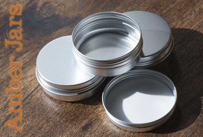 60ml Aluminium Jar with Wadded Lid  Candle Jar Beard Balm Jar Body Butter