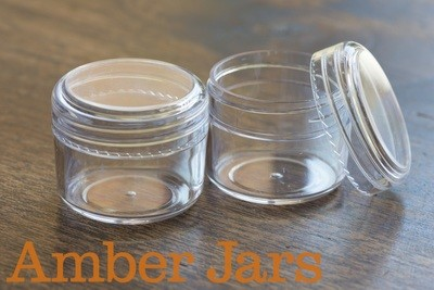 25gm Styrene Lip Balm Pots, Cosmetic sample, bead storage, Salve jar