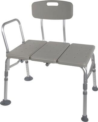 Transfer Bench with Adjustable Backrest