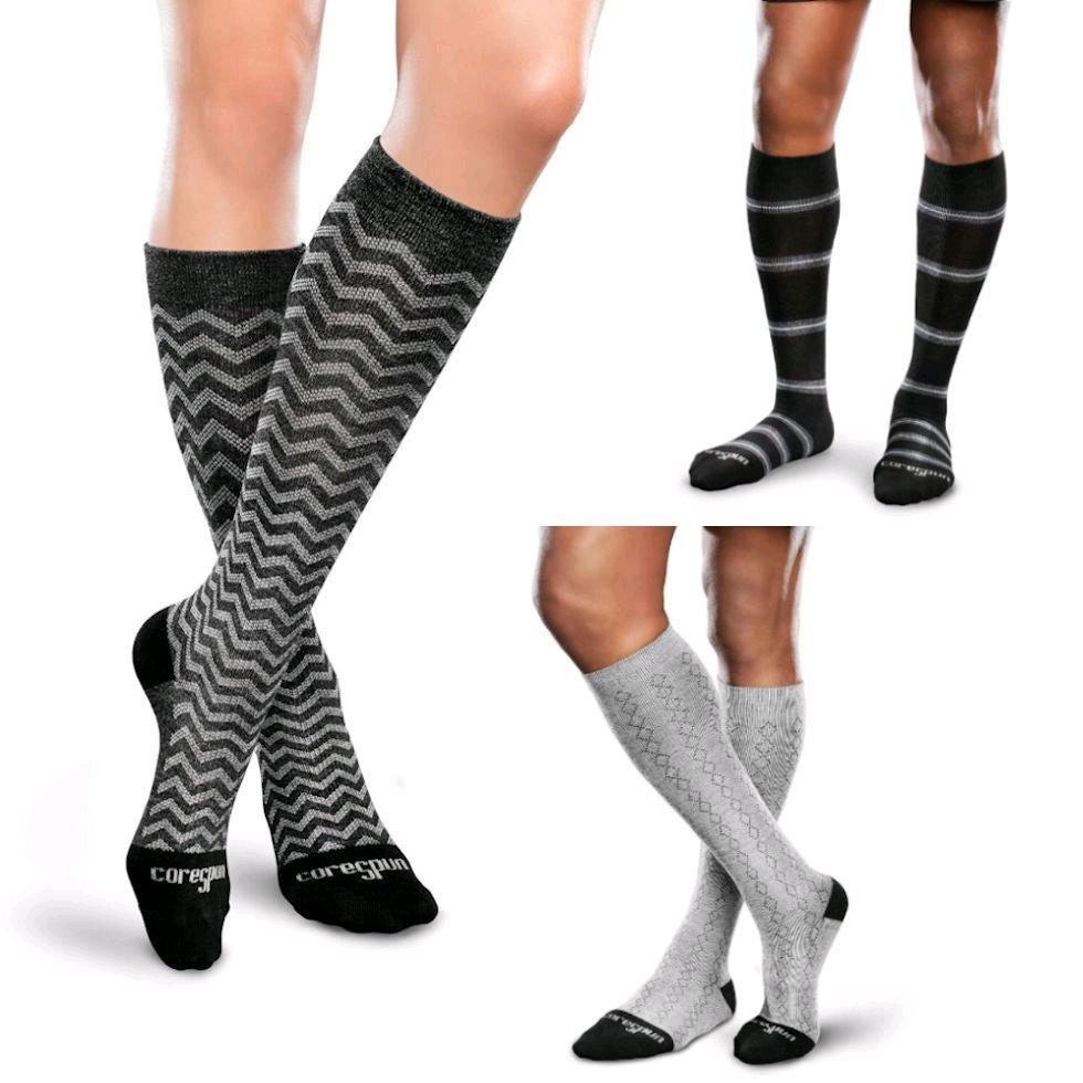 Gradient Compression Support Socks by therafirm